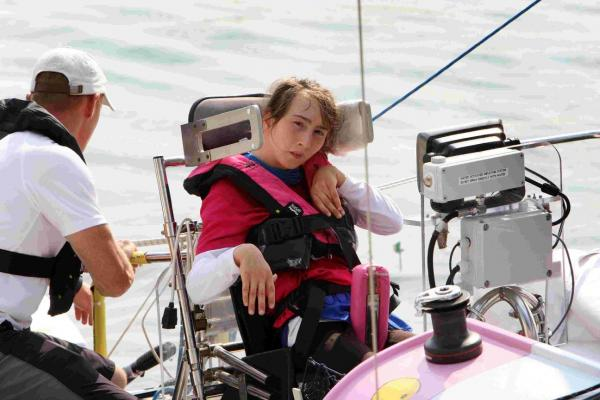 INCREDIBLE: Natasha Lambert arrives at the RNLI College in Poole