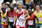 ECSTATIC: Bournemouth AC's Steve Way leads the Commonwealth Games marathon