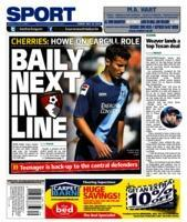 HEADLINE NEWS: Eddie Howe told the Daily Echo last month that Baily Cargill could be in line for a debut