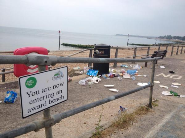 Welcome to our award winning beaches (but mind the litter)
