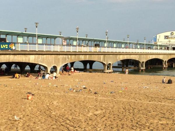 Picture of litter left on Bournemouth beach on Friday taken by Ben Brown