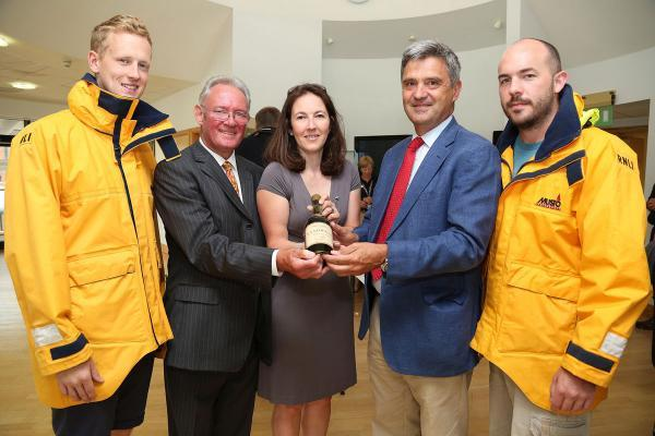 100-year-old bottle of brandy gifted to RNLI and worth £1,000 is unveiled
