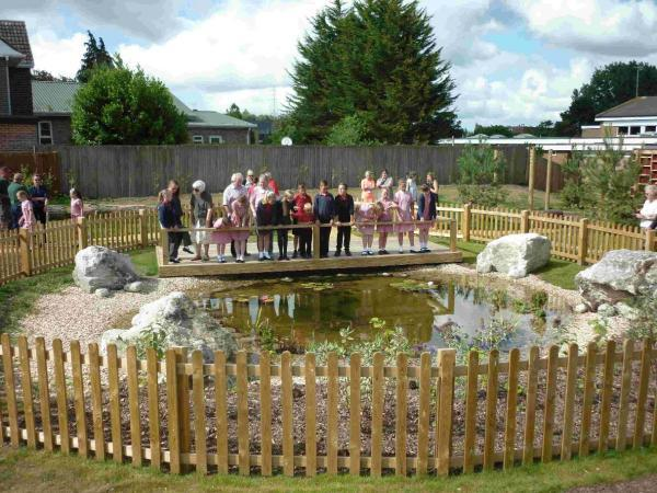 OUTSIDE: The new outdoor classroom at Turlin Moor Community School