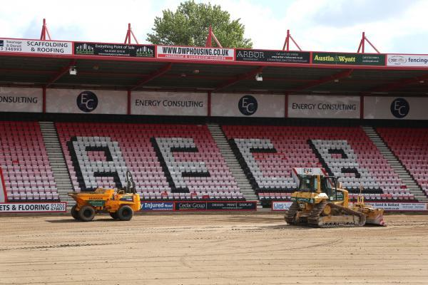 GROUNDS FOR OPTIMISM: Dean Court during the summer works