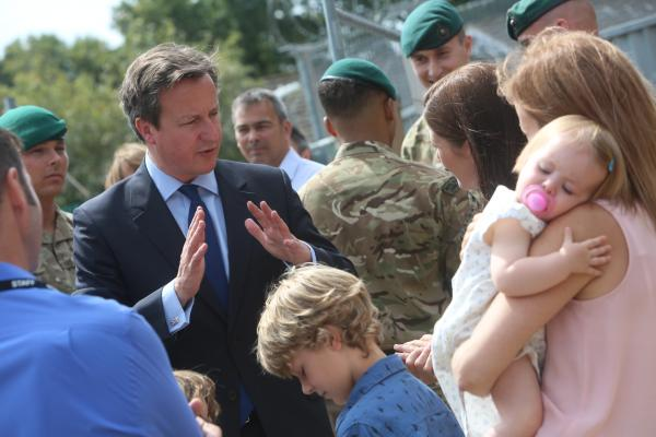 VIDEO: Prime Minister David Cameron visits Royal Marines in Poole