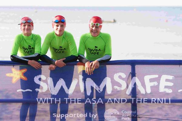 The launch of ASA Swim Safe at Bournemouth Beach