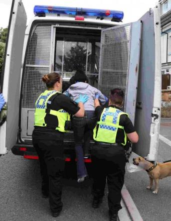 38 under arrest following major police drugs operation