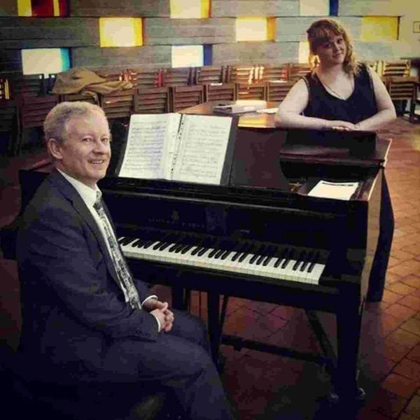 Alicia Mallace-Goulbourne, with her father Peter, who was her accompanist