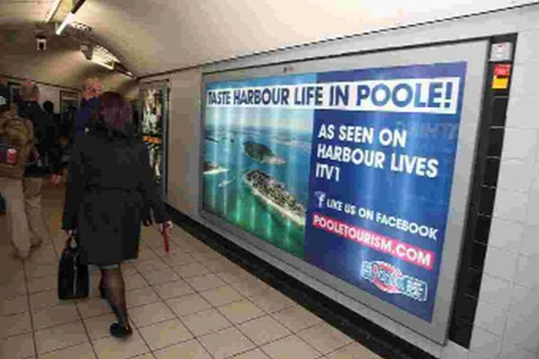 Poole to cash in on popular Harbour Lives series with London Underground adverts