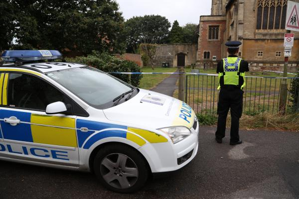 Churchyard cordoned off after