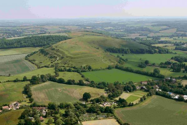 Picture of Hambledon Hill taken with help from Bournemouth Helicopters