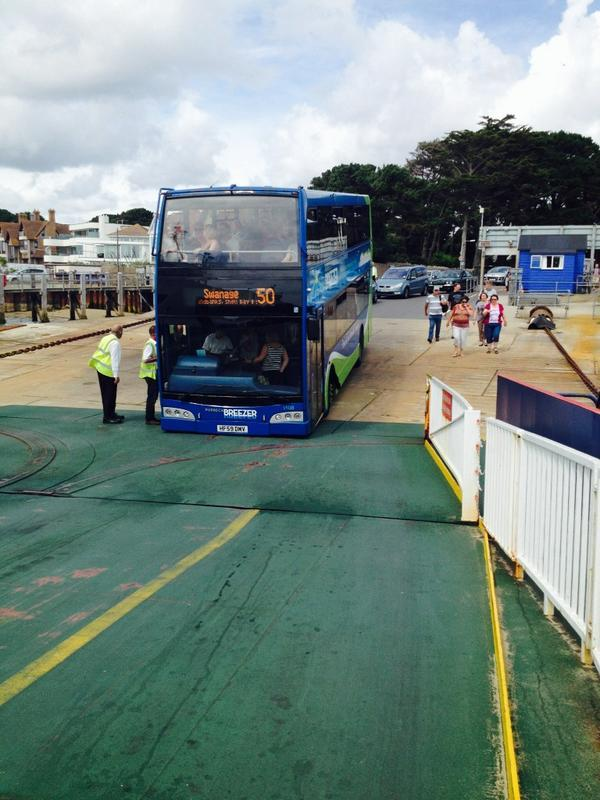 Bus breaks down while driving onto Sandbanks ferry