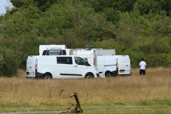 New traveller camp arrives at Sterte while number of caravans double at Creekmoor