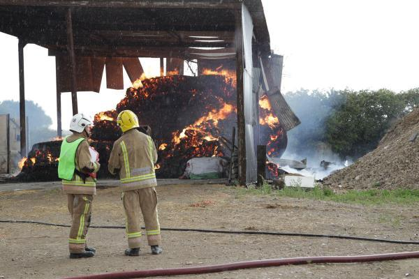 'Spontaneous combustion' warning issued to farmers after barn fires