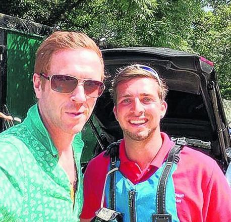 Damian Lewis with activities instructor Jake Lawrence