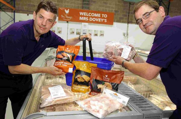 Brothers Geoffrey, left, and Jeremy Dovey of Dovey Premium Products Limited in their new factory shop Mrs Dovey's which is now open to the public