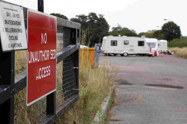 Travellers occupy Creekmoor Park and Ride in Poole