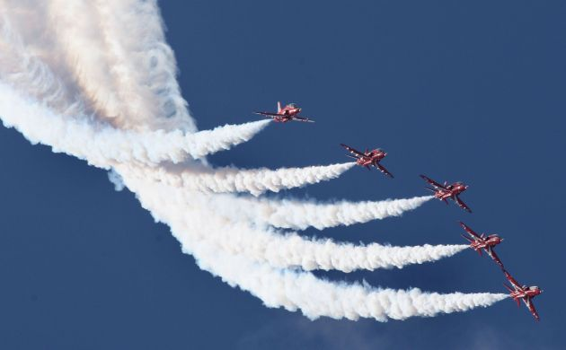 Bournemouth Echo: Red Arrows at Swanage