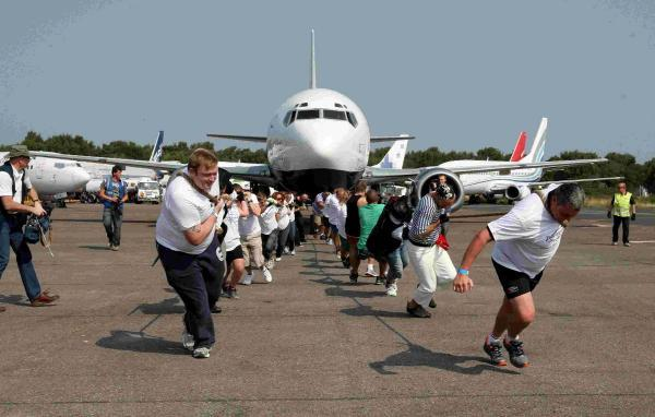 PLANE SAILING: Scenes from last year's plane pull