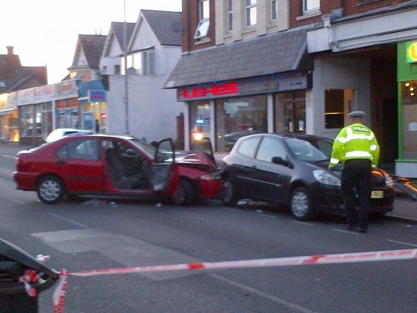 The scene of the incident in Ashley Road