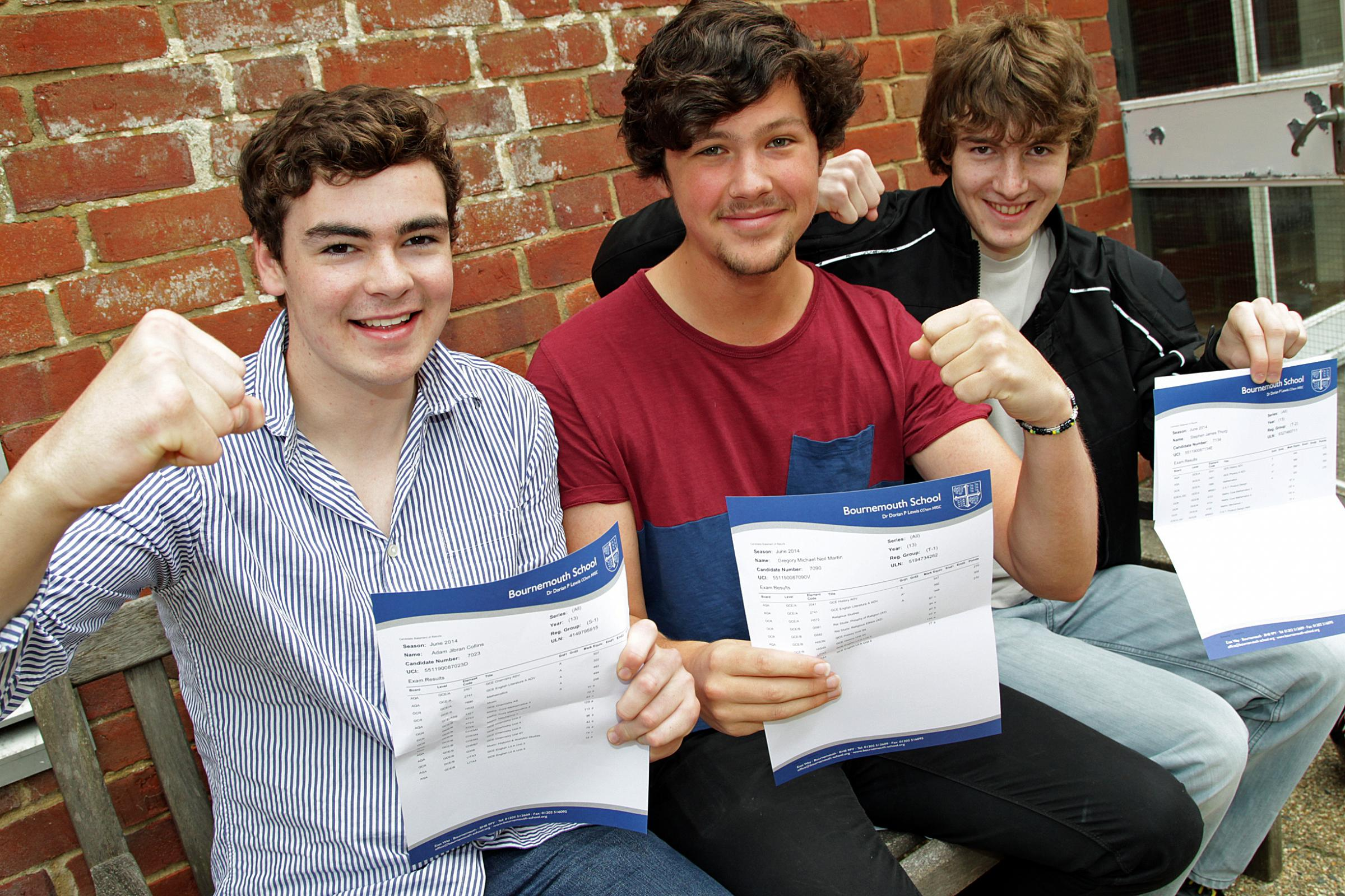 VIDEO: Celebrations as students collect A level results across Dorset and the New Forest