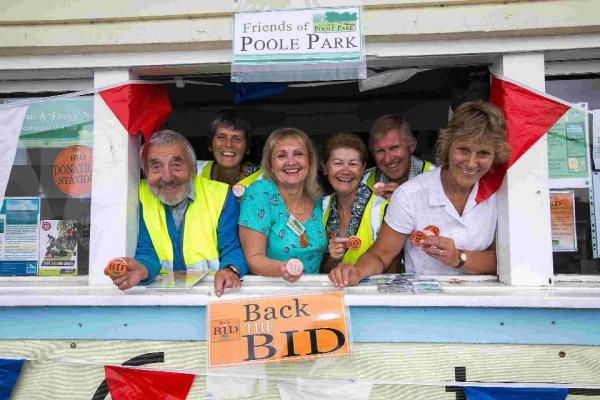 The Friends of Poole Park and Cllr Xena Dion, right, start their bid