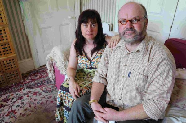 TRIBUNAL: Rev Andrew Hawthorne and his wife Ceri