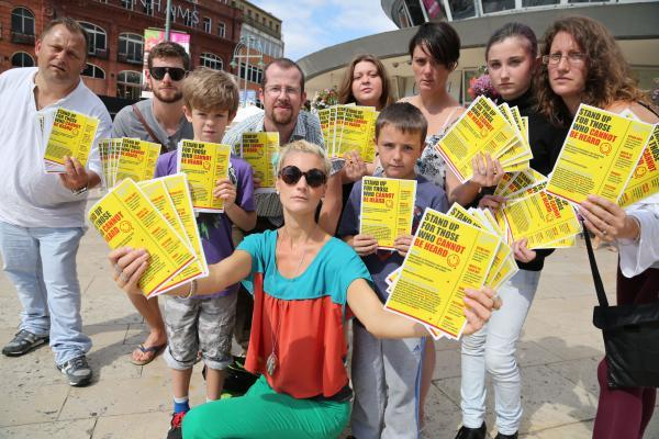 Church members raise awareness of Iraq plight in Bournemouth. Pic: Corin Messer