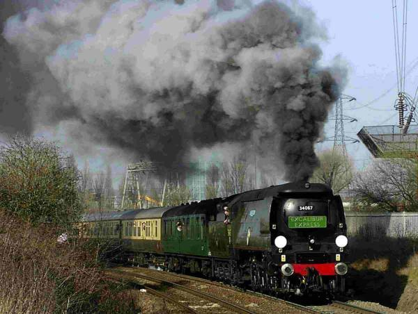 HISTORIC TRIP: Steam trains are set to transport holiday-makers from London to Bournemouth on a journey reminiscent of the 1950s