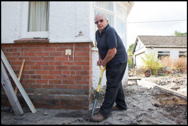 Tossed onto a pile of dirt: the unexploded bomb dug up by pensioner in his own back garden