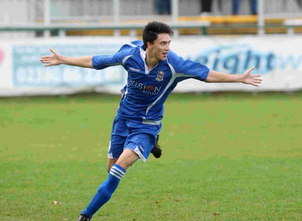 GAME CHANGER: Poole Town's Luke Roberts (pictured playing for AFC Totton)