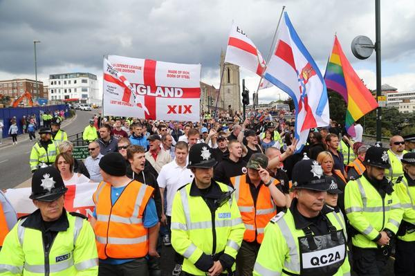VIDEO: Strong police presence as EDL and diversity marches take place in Bournemouth