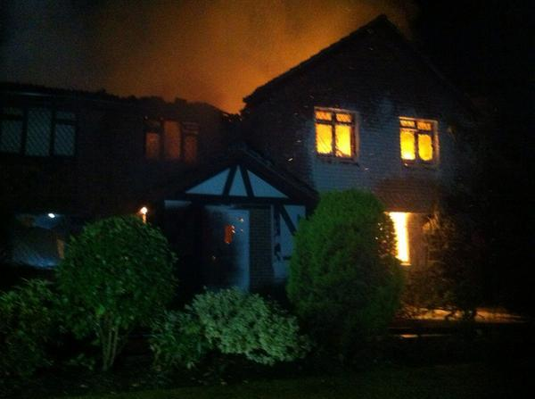 VIDEO: Fire crews battle blaze at £1.4million house