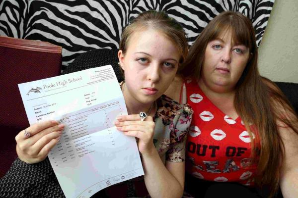 UPSET: Chantelle Beresford and her mum, Kerrie