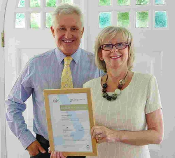 Rob and Jane Edwards of Access Lifts with their Achilles Building Confidence Accreditation