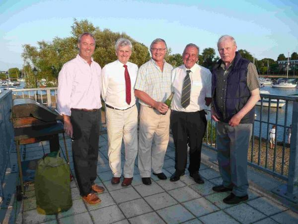OARSOME: Peter  Quinn, David Richardson, Paul Mills, Geoffrey Giltrap and Brian Woodfield