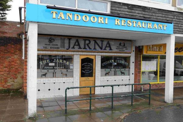 The Jarna Tandoori restaurant on Christchurch Road, New Milton