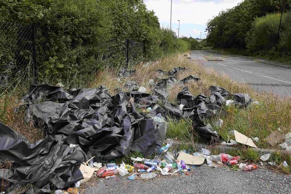 VIDEO: Clean-up operation at Creekmoor park and ride after travellers leave rubbish strewn site
