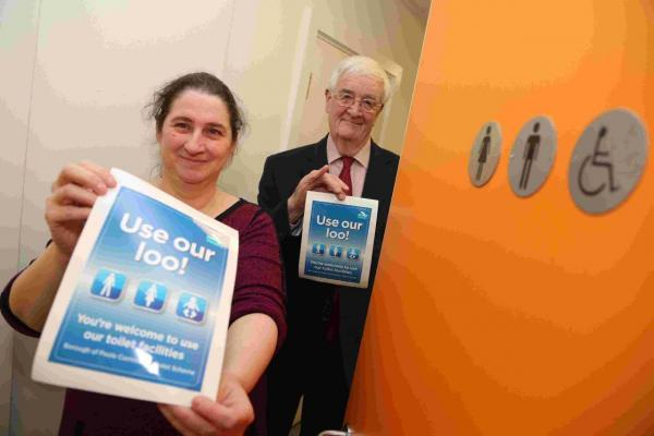 LOO ROW: Cllr Charmaine Parkinson and Cllr Mike White are promoting the Community Toilet Scheme