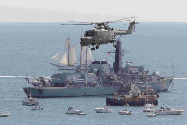 Two days to go: Royal Navy gets set for biggest event of the year at Bournemouth Air Festival