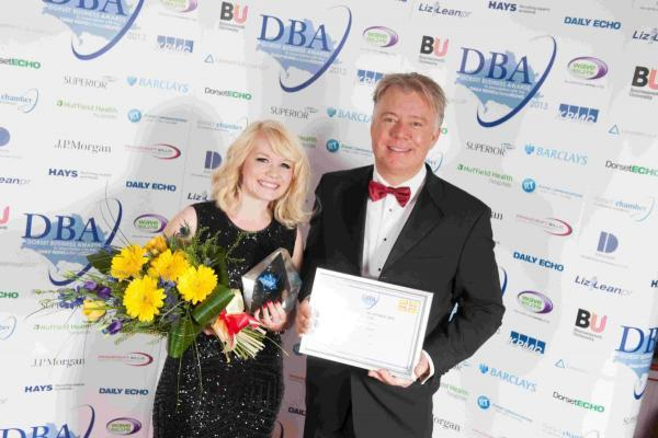 Rachael Tatton of Animal, winner of the 2013 Retail Excellence Award, sponsored by the Dolphin Shopping Centre, and John Grinnell of Dolphin Shopping Centre