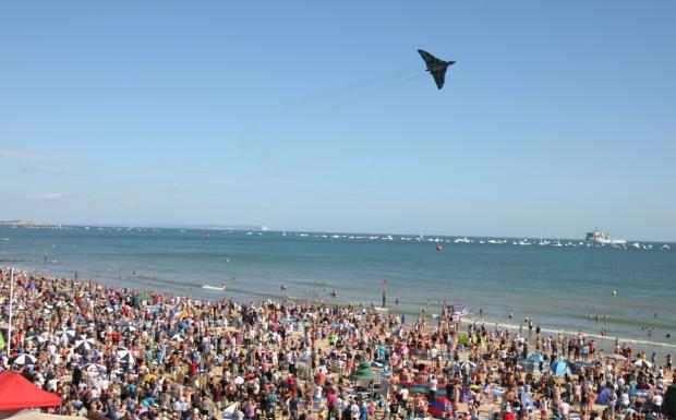 Bournemouth Echo: Check out all our pictures from day four of the Bournemouth Air Festival 2014 on Sunday, August 31. Picture by Richard Crease