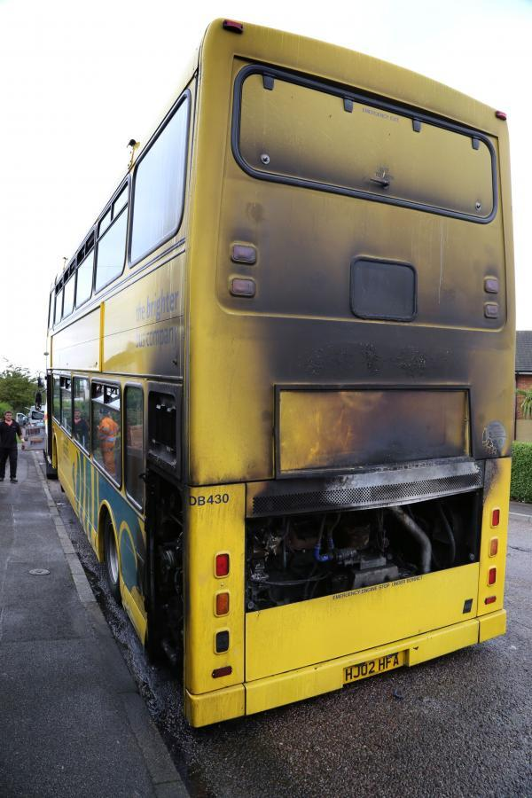 Firefighters called after double decker bus catches fire