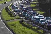 QUEUES: Traffic on the A338 Wessex Way after the Bournemouth Air Festival