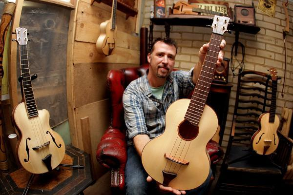Meet the man with an obsession for making ukuleles - but he can't play a note