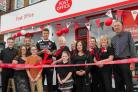 Steve Fletcher opens the Ensbury Park post office