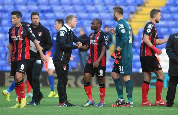Photo of Tokelo Rantie & his friend celebrity  Eddie Howe -