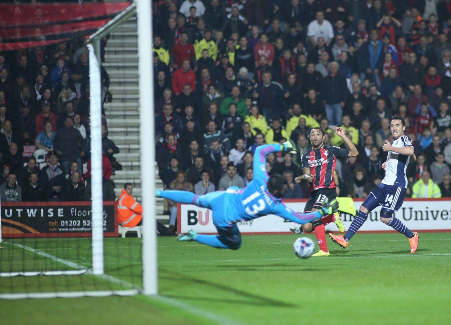 GOAL-DEN MOMENT: Callum Wilson bags the winning goal