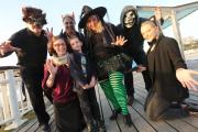'The Witch of the East Cliff' takes a ride on the zip wire for Halloween