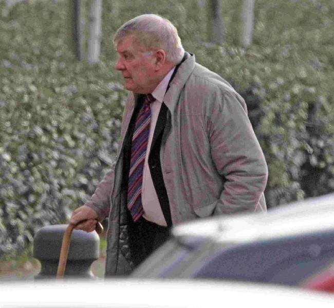 COURT: Barry Furlong arrives at Bournemouth Crown Court